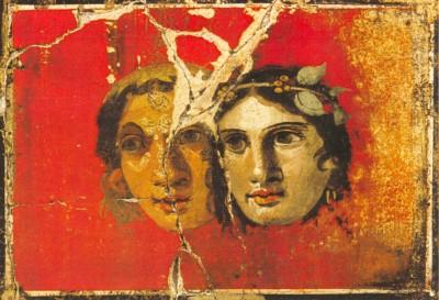 Alegoría al teatro. Fresco de Pompeya