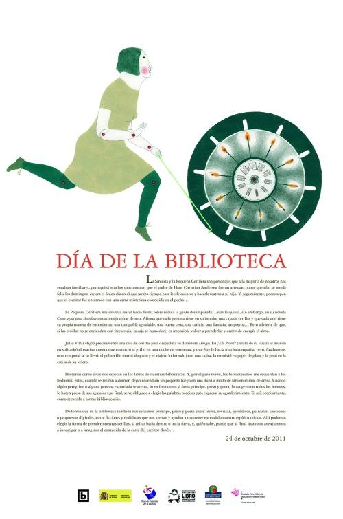 Cartel Odriozola Dia biblioteca 2011