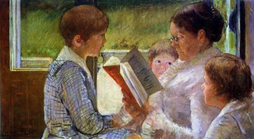 cassatt_leyendo a los niños