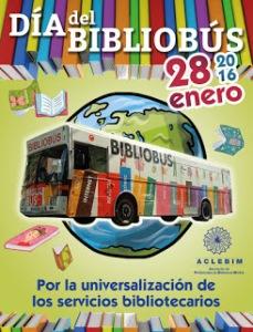 Día del bibliobús cartel ACLEBIM